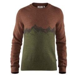 Fjällräven Greenland Re-Wool Sweater Heren Autumn Leaf