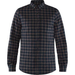 Fjällräven Ovik Flannel Shirt Heren Dark Navy