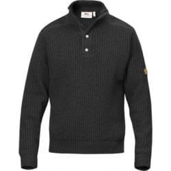 Fjällräven Värmland T-Neck Sweater Heren Dark Grey